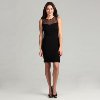 Calvin Klein Women's Black Pleated Dress