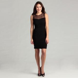 Calvin Klein Women's Black Pleated Dress