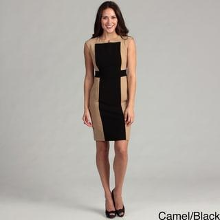 Calvin Klein Women's Cap-sleeve Colorblock Dress