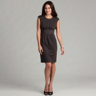 Calvin Klein Women's Charcoal Chain Detail Dress