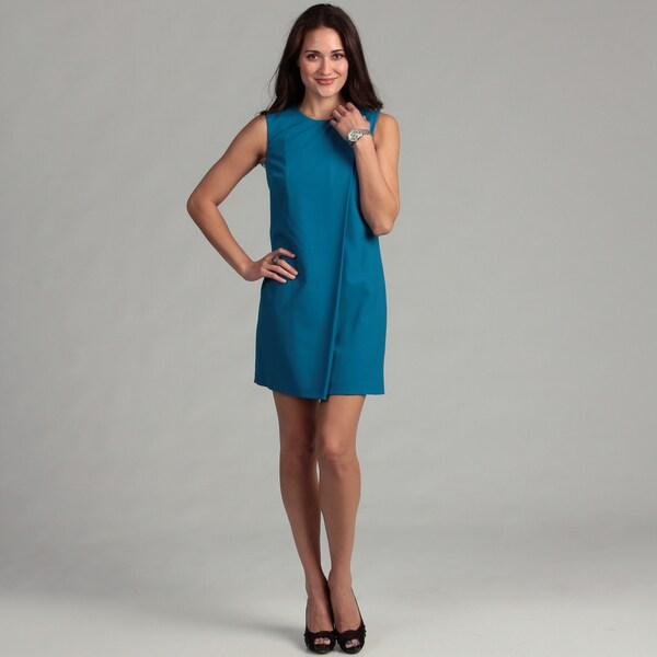 Calvin Klein Women's Scoop Neck Foldover Dress
