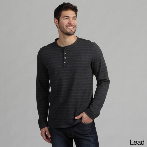 Calvin Klein Men's Striped Henley Shirt FINAL SALE