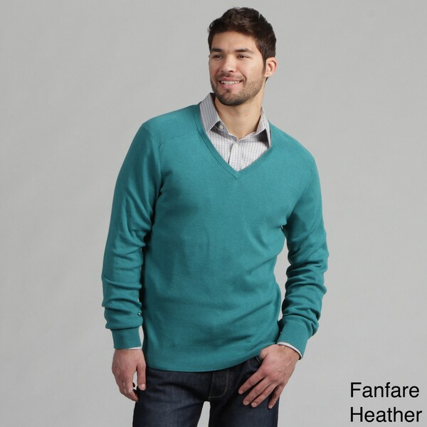 Calvin Klein Men's Full Needle Cotton V-neck Sweater FINAL SALE