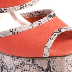 Hailey Jeans Co Women's 'Floral' Peep Toe Platform Heel