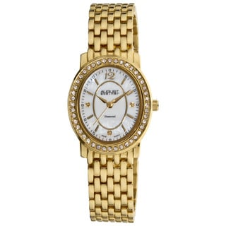 Goldtone August Steiner Women's Dazzling Diamond Oval Bracelet Watch
