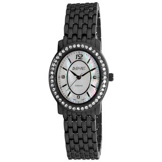 August Steiner Women's Dazzling Diamond Oval Bracelet Watch