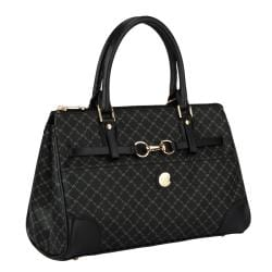 RIONI Signature Black Princess Satchel