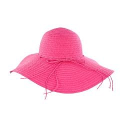 Faddism Women's Pink Flower Straw Sun Hat