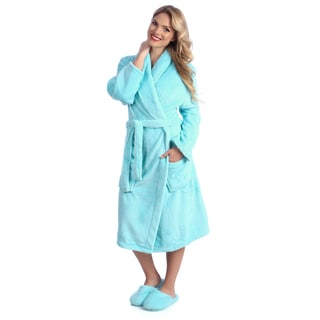 Ultrasoft  Plush Bath Robe and Slipper Set