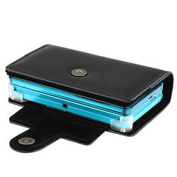 INSTEN Black Leather Case Cover for Nintendo 3DS
