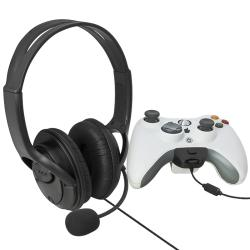 BasAcc Black Headset with Microphone for Microsoft xBox 360