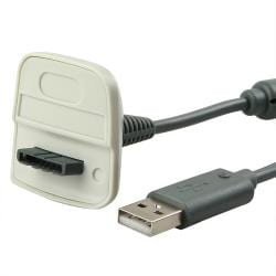 BasAcc Wireless Controller Charging Cable for Microsoft xBox 360