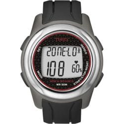 Timex Men's T5K560 Health Touch Plus Heart Rate Monitor Black/Grey/Red Watch