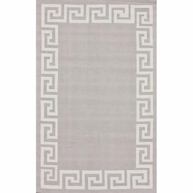 nuLOOM Handmade Greek Key Wool Rug (5' x 8')