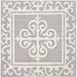 nuLOOM Handmade Royalty Grey Wool Rug (6' x 6')