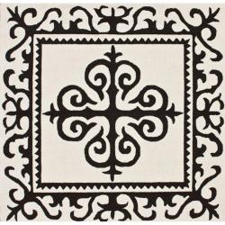 nuLOOM Handmade Royalty Ivory Wool Rug (6' x 6')