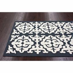nuLOOM Handmade Marrakesh Grey Wool Rug (7'6 x 9'6)