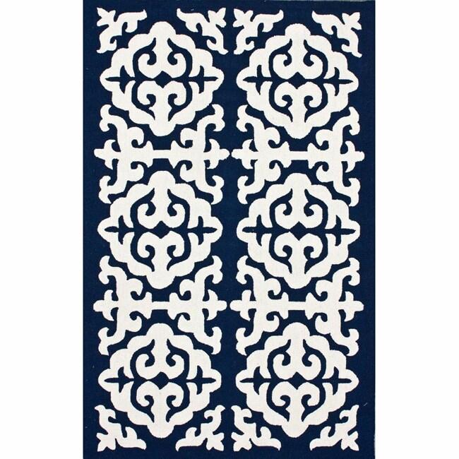 nuLOOM Handmade Marrakesh Navy Wool Rug (5' x 8')