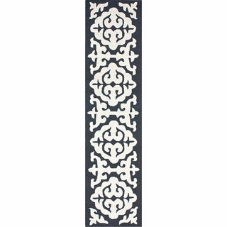 nuLOOM Handmade Marrakesh Grey Wool Runner (2'6 x 10')