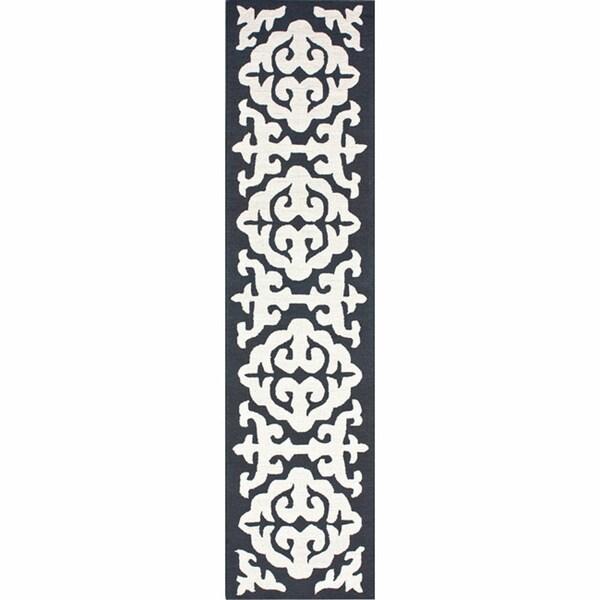 nuLOOM Handmade Marrakesh Grey Wool Runner (2'6 x 10')