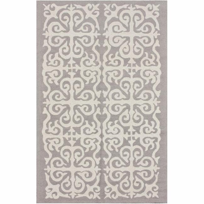 nuLOOM Handmade Marrakesh Fez Grey Wool Rug (5' x 8')