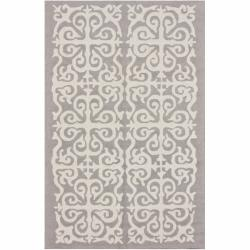 nuLOOM Handmade Marrakesh Fez Grey Wool Rug (5' x 8')