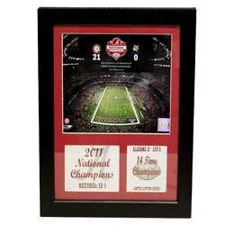 University of Alabama 2011 BCS National Champion Deluxe Stat Frame