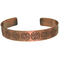 CGC Copper-plated Celtic Triskelion Circle Cuff Bracelet