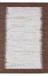 nuLOOM Handmade Mona Kilim Flatweave Brown Cotton Rug (4' x 6')