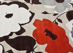 nuLOOM Handmade Bold Floral Wool Rug (7'6 x 9'6)