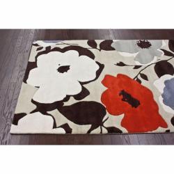 nuLOOM Handmade Bold Floral Wool Rug (8'3 x 11')