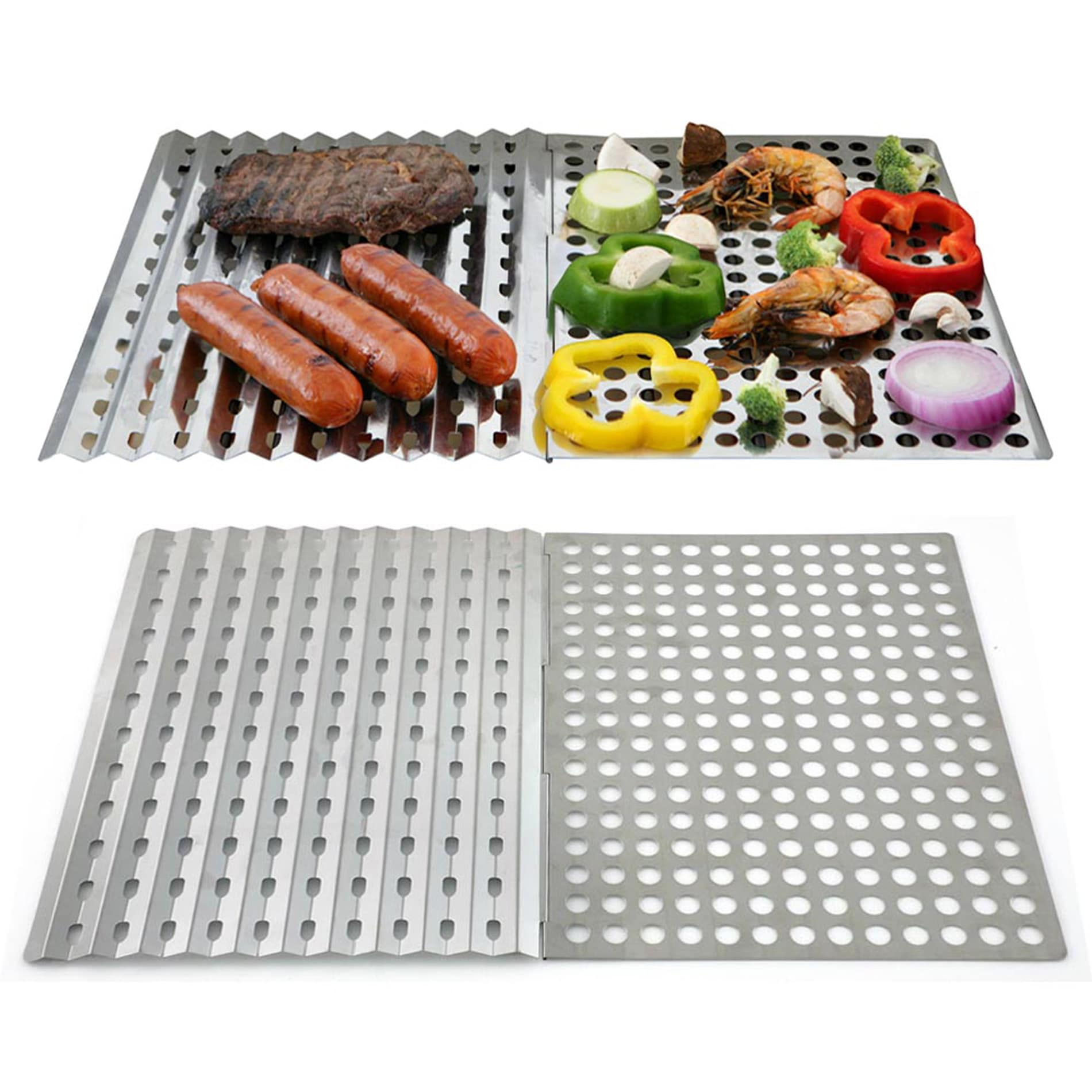 Mr. BBQ Reusable Stainless Steel Grill Sheet Pack