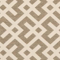 Poolside Brown/ Bone Indoor Outdoor Rug (6'7 Square)