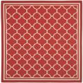 Poolside Red/Bone Indoor/Outdoor Polypropylene Rug (6'7 Square)