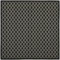 Safavieh Poolside Black/Beige Indoor/Outdoor Polypropylene Rug (6'7