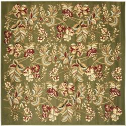 Lyndhurst Collection Floral Sage Rug (7' Square)