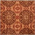 Handmade Treasures Cinnamon New Zealand Wool Rug (7' Square)