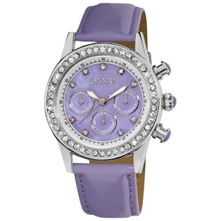 Lavendar August Steiner Women's Multifunction Dazzling Strap Watch