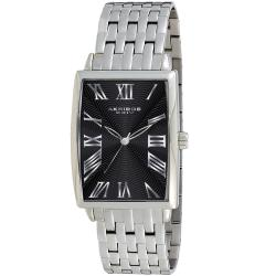 Akribos XXIV Men's Stainless Steel Rectangle Quartz Bracelet Watch