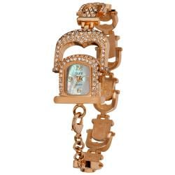 Burgi Women's Mother of Pearl Crystal Bracelet Watch