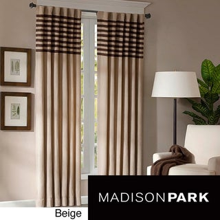 Madison Park Dune Microsuede  Curtain Panel Pair