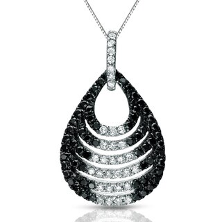 Auriya 14k White Gold 1/2ct TDW Black and White Diamond Necklace (G-H, I1-I2)