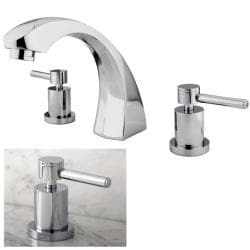 Curved Chrome Roman Tub Filler Faucet