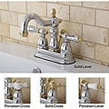 Victorian High Spout Chrome/ Polished Brass Bathroom Faucet