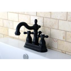 Victorian High Spout Oil Rubbed Bronze Bathroom Faucet