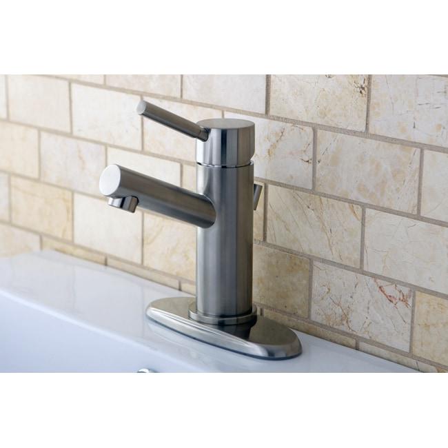 Straight Satin Nickel Bathroom Faucet