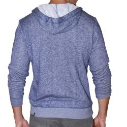 191 Unlimited Men's Blue Terry Cloth Hoodie