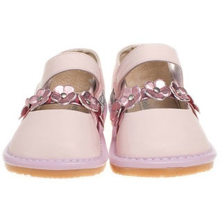 Little Blue Lamb Toddler Pink Leather Squeaky Shoes