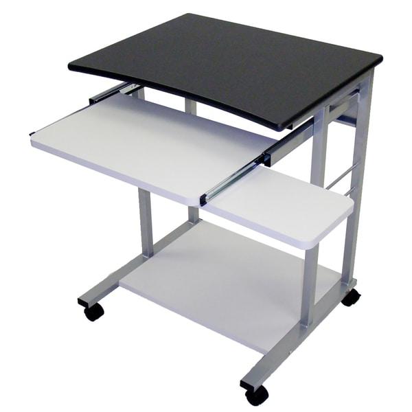 Luxor Charcoal Grey Mobile Computer Office Furniture Desk School Dorm