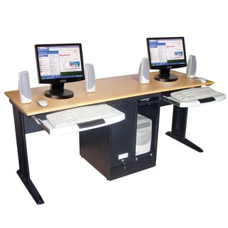 Luxor Black Two Person Desk